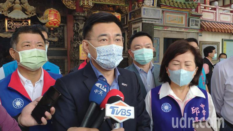 國民黨黨主席江啟臣上午表示,國民黨雖是在野黨,也會結合執政的14縣市,設法提供必要的協助幫助農民。記者謝進盛/攝影