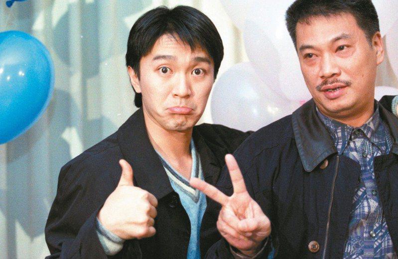周星馳(左)與吳孟達曾經是黃金搭檔。圖/聯合報系資料照片