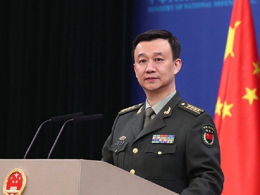 大陸國防部發言人吳謙。(大陸國防部官網)