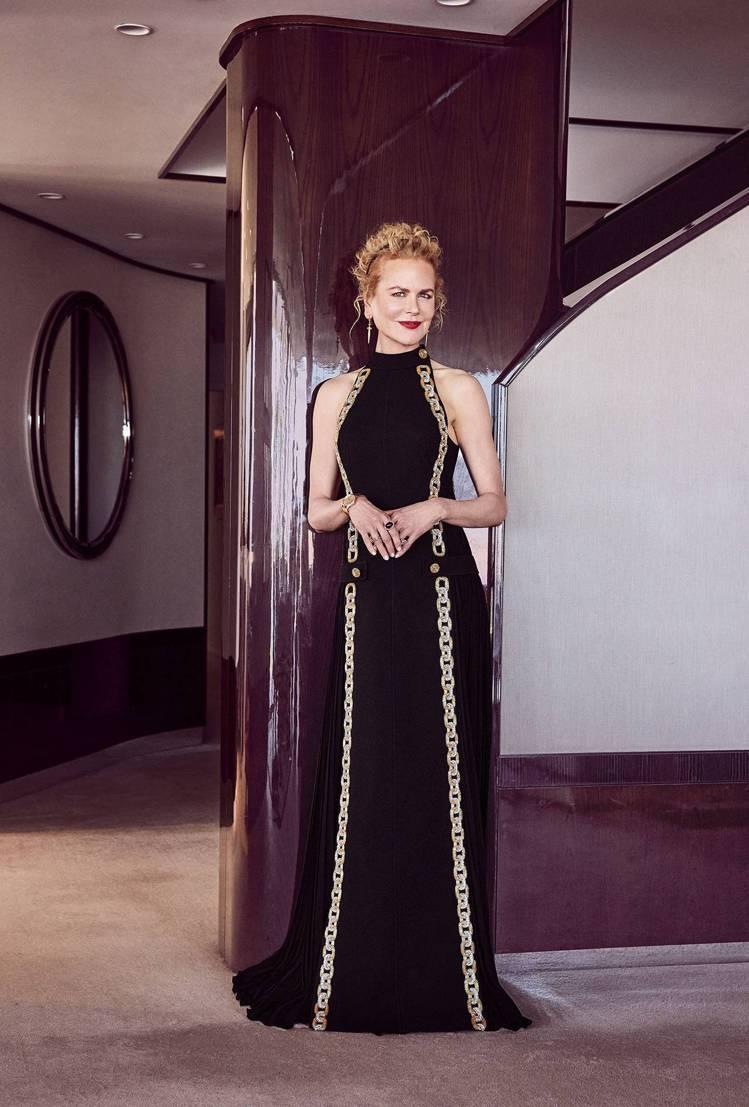 妮可基嫚穿Louis Vuitton禮服。圖/摘自IG