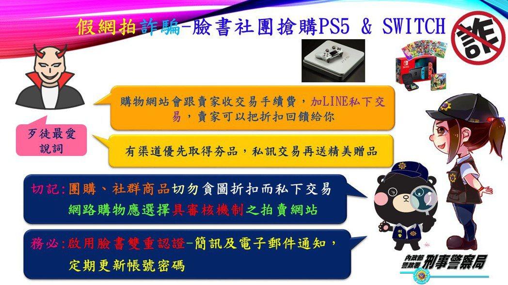 詐騙集團上網販賣PS5、Switch遊戲機或遊戲光碟片,要求私下交易,收到匯款不...