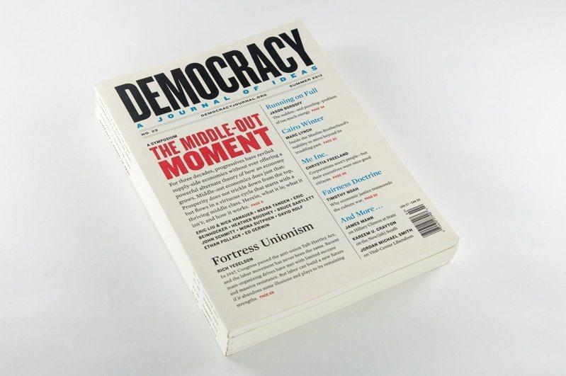 《民主》季刊只有500個訂戶、3名工作人員,卻堪稱後川普時代最有影響力的刊物之一。圖/取自官網