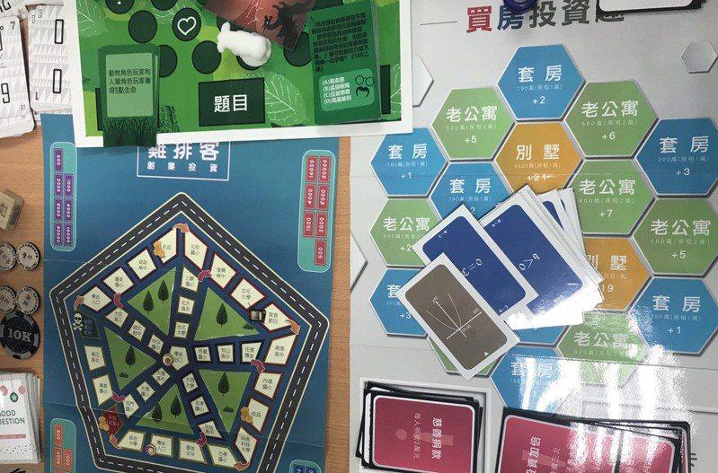 台北市成淵高中打造全國唯一一間收集數學桌遊的專科教室。記者潘乃欣/攝影
