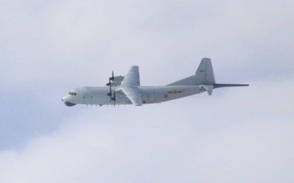 國防部今晚發布西南空域空情動態,中共解放軍一架運-8反潛機(如圖、同型機)今(1)日侵入我西南防空識別區。圖/國防部