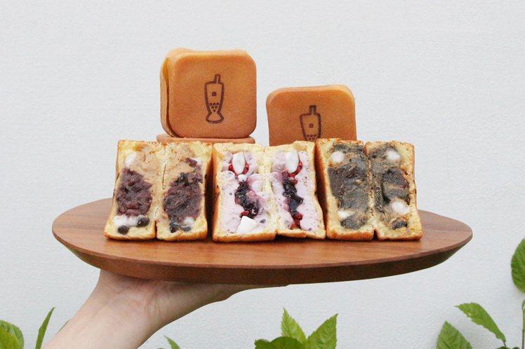 小春日燒新推出觀音紅豆珍珠、芝麻花生麻糬、冰心藍莓乳酪等3種口味。圖/春水堂提供