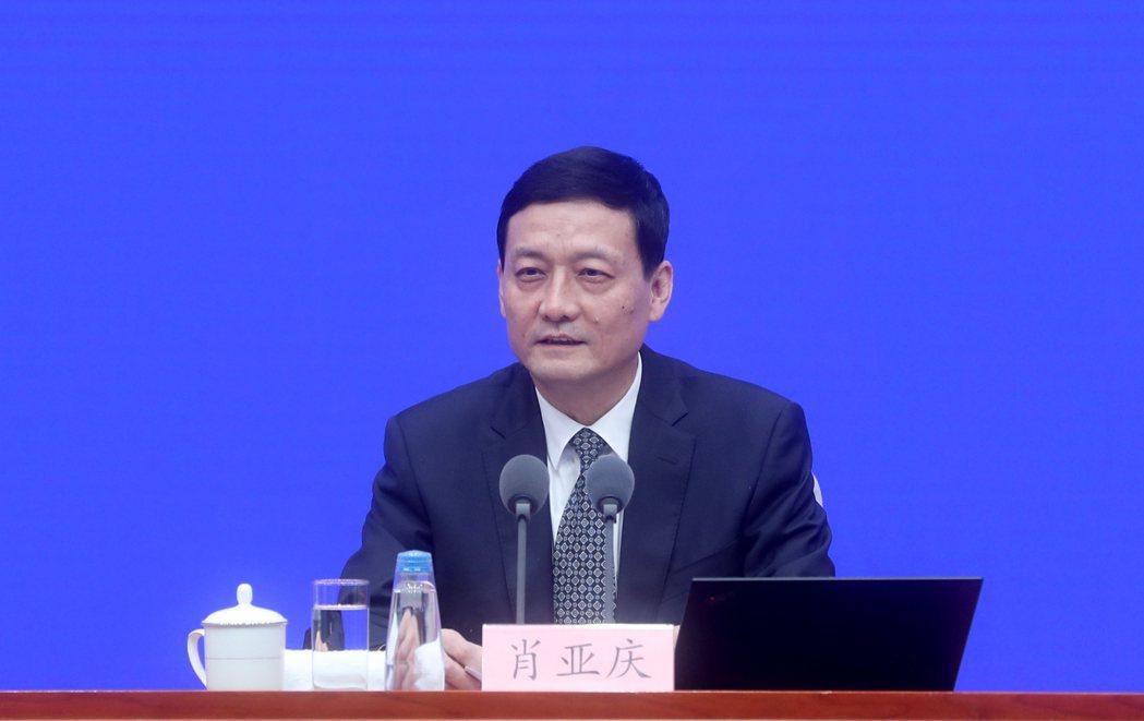 大陸工信部長肖亞慶   (中新社)