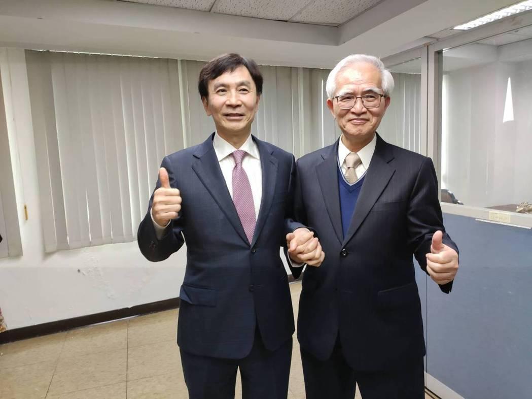 大同董事長盧明光(右)與總經理鍾依文(本報系資料庫)