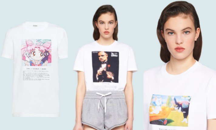 MIU MIU全新限定版的T-Shirt,讓電影和動畫迷們可以把喜歡的作品穿上身...