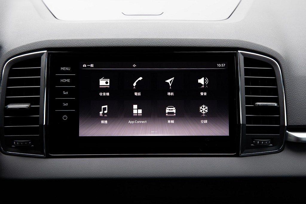 第三代資訊娛樂系統將螢幕擴大至9.2吋,採用全繁體中文介面,除此之外,尚擁有「手...