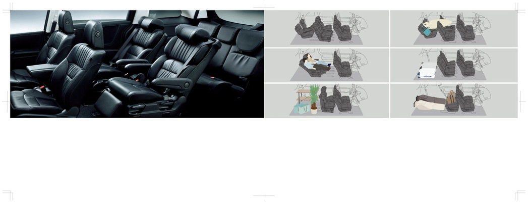 座椅具三模式變化,可依據需求自由地移動第二排座椅,隨心所欲地創造出靈活空間。 圖...