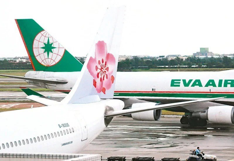 中華航空、長榮航空示意圖。報系資料照