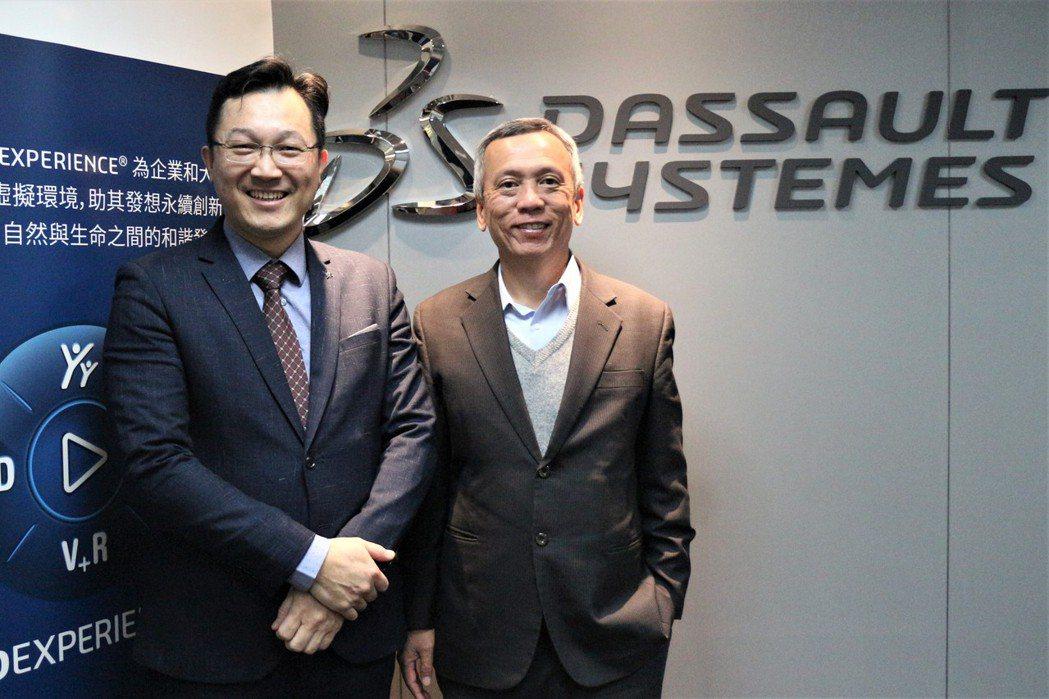 達梭系統台灣銷售總監張銘輝(左)與資深技術經理許欲生。 達梭/提供