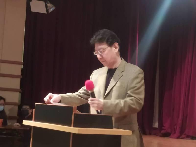 中廣董事長趙少康。記者劉宛琳/攝影