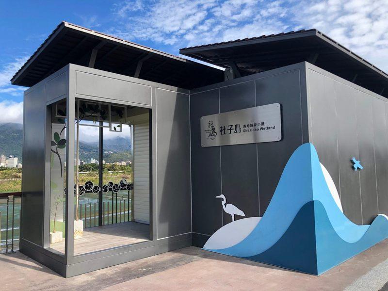 社子島濕地解說小築2館本週末將開幕,特別邀請台灣知名畫家陳一銘進行環保生態座談。圖/北市水利處提供
