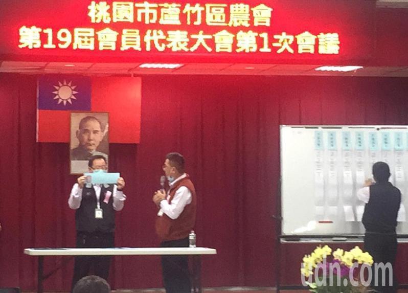 蘆竹區農會會員代表大會選出新任理事9人、監事3人及市農會代表5人,同額競選順利當選,本月10日舉行新任理監事會改選「3巨頭」。記者曾增勳/攝影