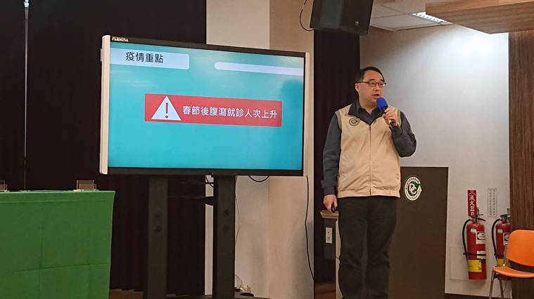 疾管署疫情中心主任郭宏偉(圖)說,國內上周腹瀉門急診就診累計138462人次,近...