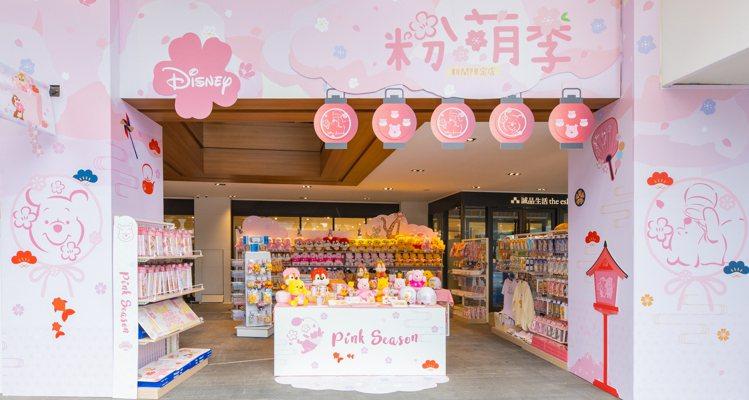 迪士尼粉萌季期間限定店台北店場景。圖/邁思娛樂提供