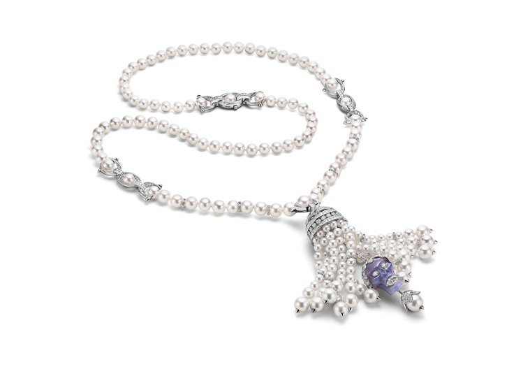 BVLGARI BAROCKO系列Secert Momento頂級珍珠與鑽石項鍊...