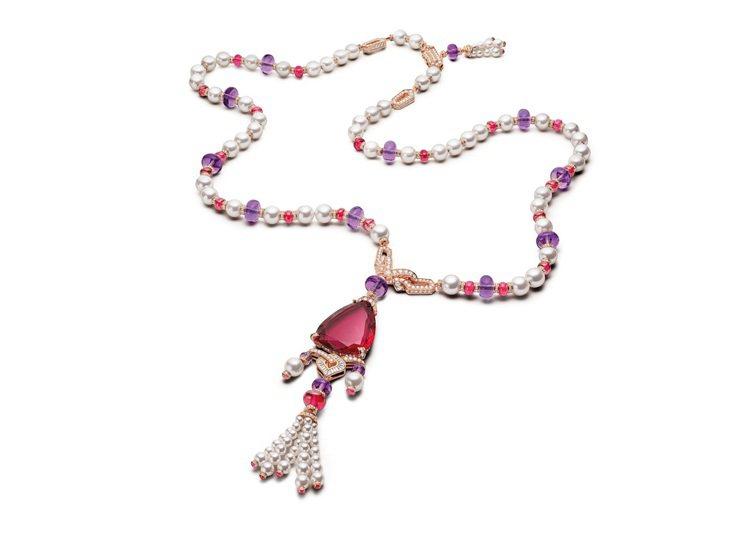 BVLGARI BAROCKO系列Lady Rubellite頂級紅碧璽、珍珠與...
