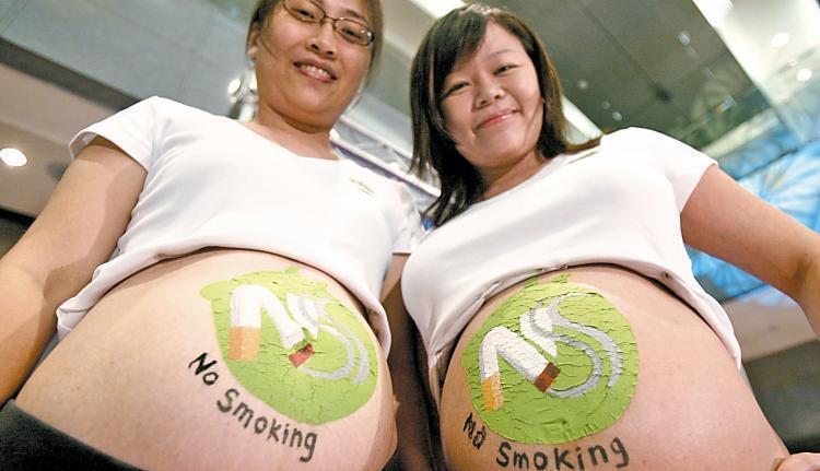 孕婦吸菸或接觸二手菸、三手菸恐對胎兒造成傷害。圖/本報資料照片