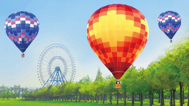 2021熱氣球夢想節,台中麗寶樂園渡假區4月登場。圖/麗寶樂園渡假區提供