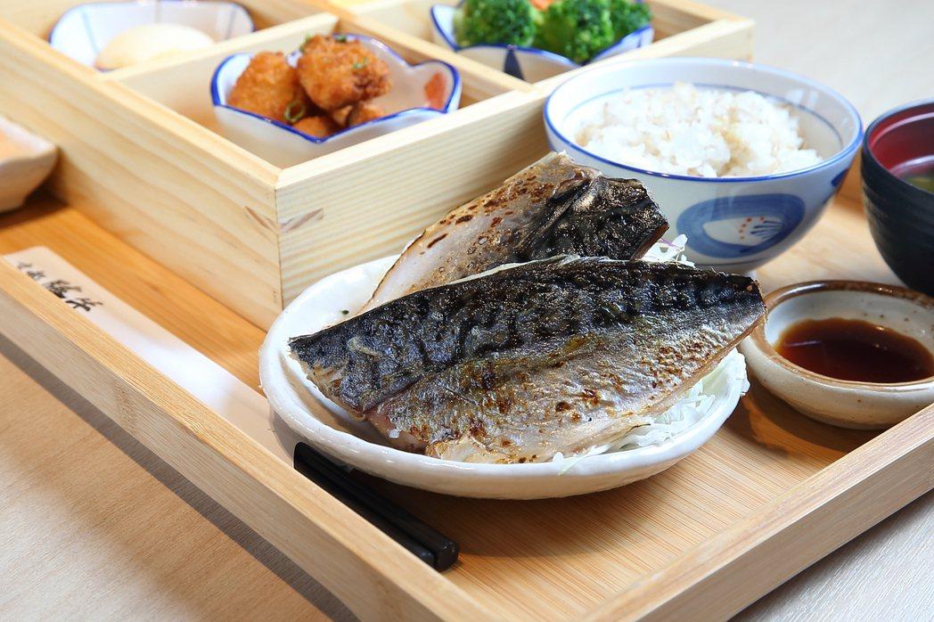 京都勝牛推出「鯖魚套餐」等4款商業午餐。記者陳睿中/攝影