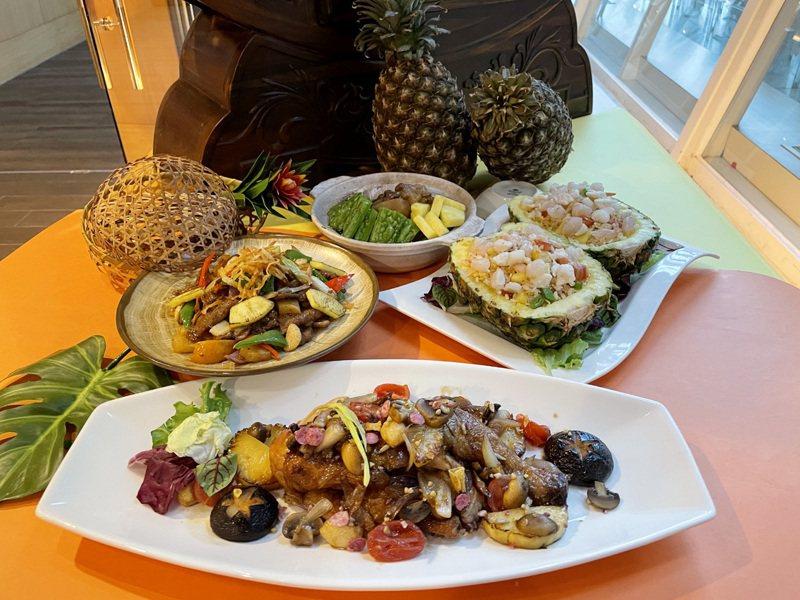 桃園喜來登酒店宣布本月5日起全面用本土鳳梨挺農民,新推中西餐17道鳳梨入菜料理,每月使用本土鳳梨超過1千公斤。記者曾增勳/翻攝