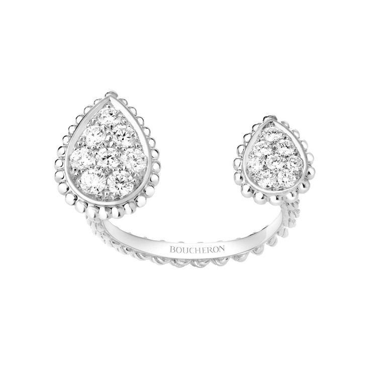 Boucheron Serpent Bohème系列戒指,白金750、鑲鑽,價格...