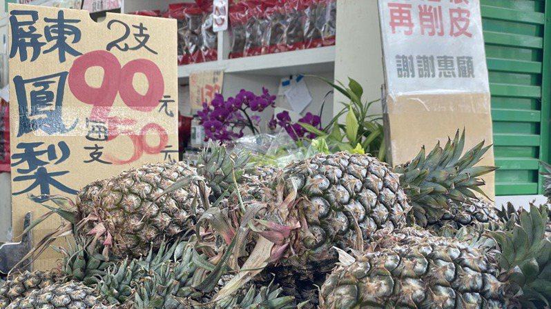 中國大陸日前宣布由於多次從台灣進口鳳梨中檢出介殼蟲,為防範疫情擴散並確保農業安全,從3月1日起暫停台灣鳳梨輸入。記者林則宏/攝影