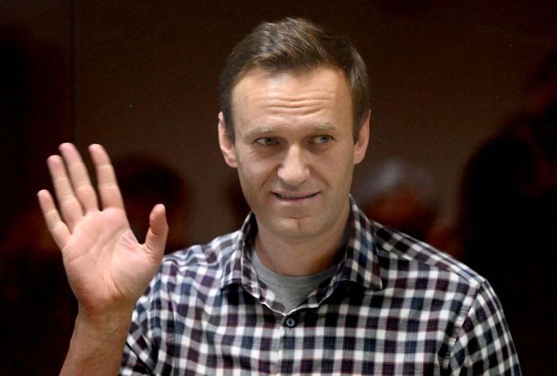 納瓦尼2月20日在莫斯科出庭。(法新社)