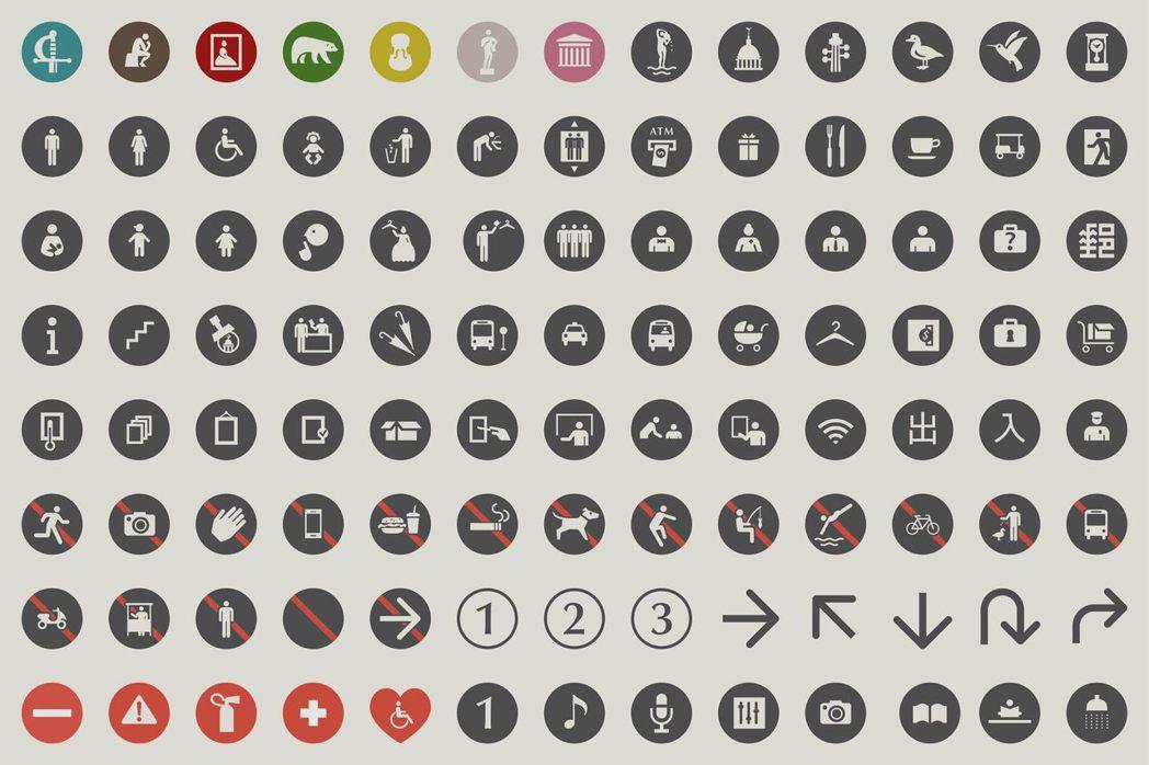 果多設計操刀的奇美博物館視覺識別設計與館內外一系列指示與圖標系統。 圖/果多...
