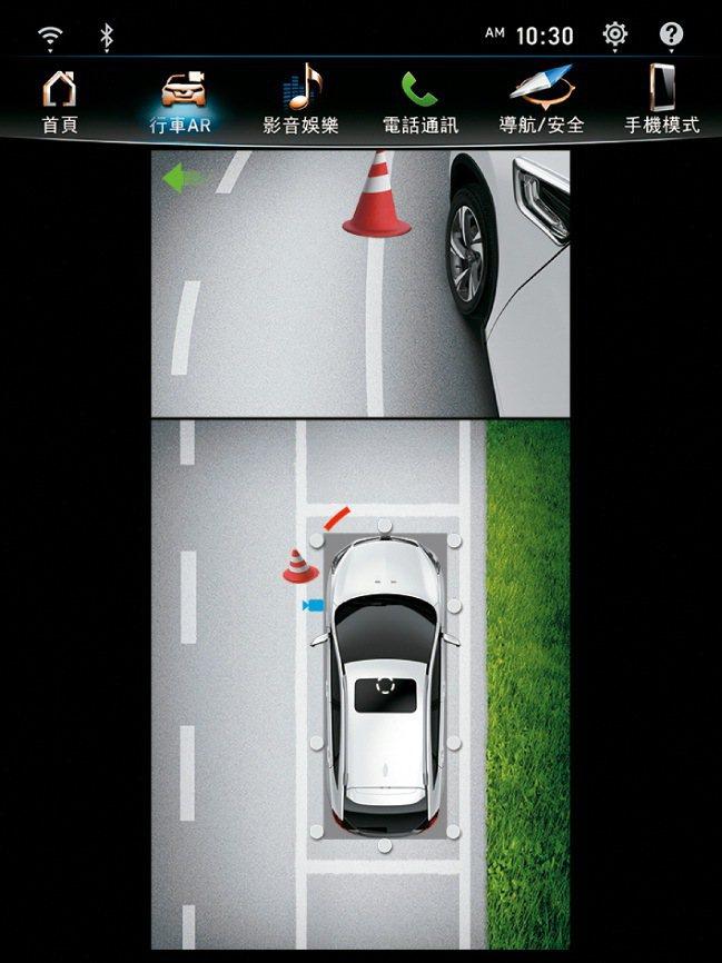 環車AR安全影像。 圖/納智捷提供