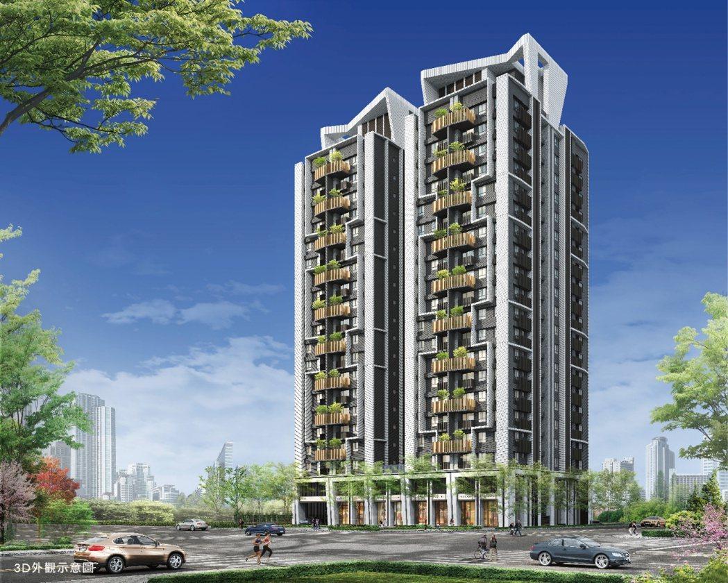 「坤悅君匯」基地三面臨路,設計雙塔建築,採光性更升級。(照片/業者提供)