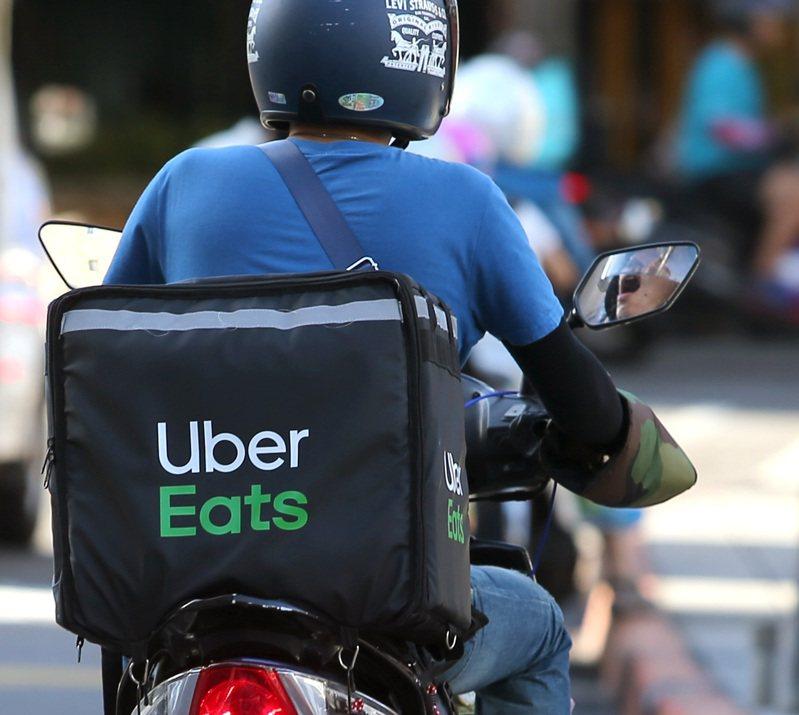 外送平台UberEats示意圖。 記者林澔一/攝影