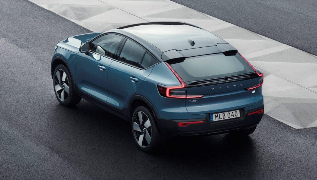 全新Volvo C40 Recharge純電跑旅。 摘自Volvo