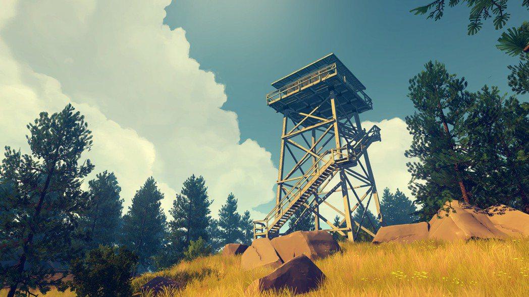 《Firewatch》遊戲中的瞭望塔