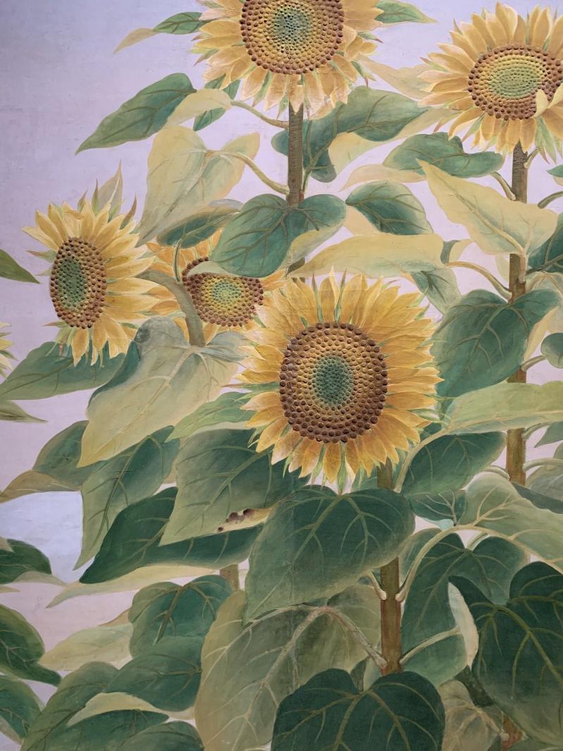 黃水文,《向日葵》(局部),1938,國立臺灣美術館藏。