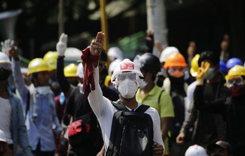 緬甸軍方發動政變以來,民眾示威不斷。 歐新社