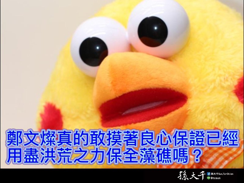 前立委孫大千質疑桃園市長鄭文燦未盡力保護藻礁。圖/取自孫大千臉書