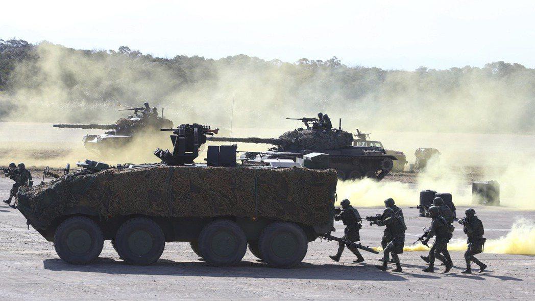 今年1月19日國軍在新竹演習。美聯社