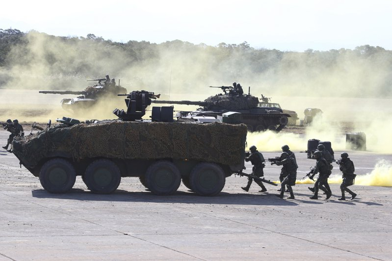 今年1月19日國軍在新竹演習。  美聯社