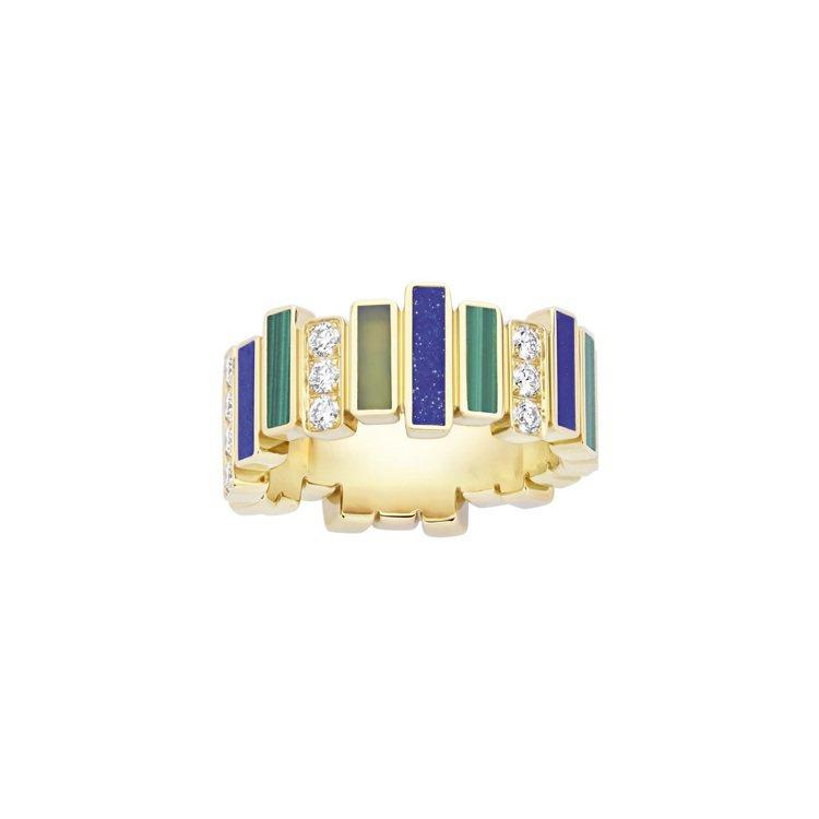 GEM DIOR黃金鑽石彩寶戒指,45萬5,000元。圖/DIOR提供