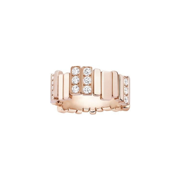 GEM DIOR玫瑰金鑽石戒指,31萬5,000元。圖/DIOR提供