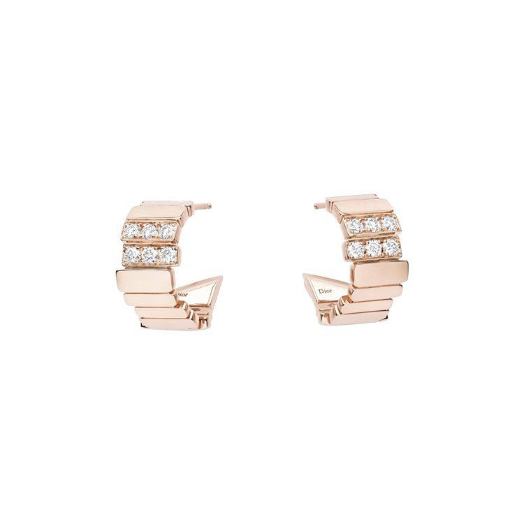 GEM DIOR玫瑰金鑽石耳環,29萬5,000元。圖/DIOR提供