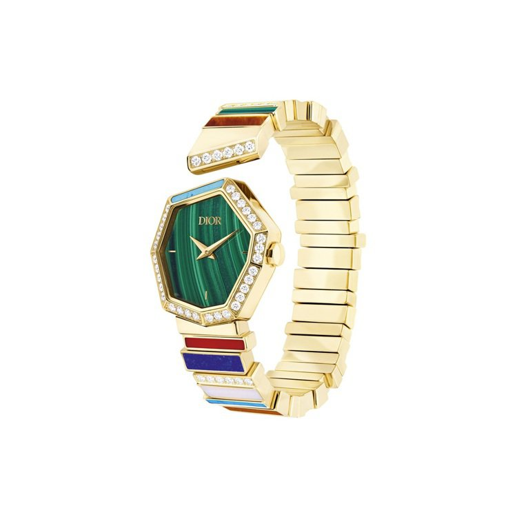 GEM DIOR黃金鑽石彩寶腕表,210萬元。圖/DIOR提供