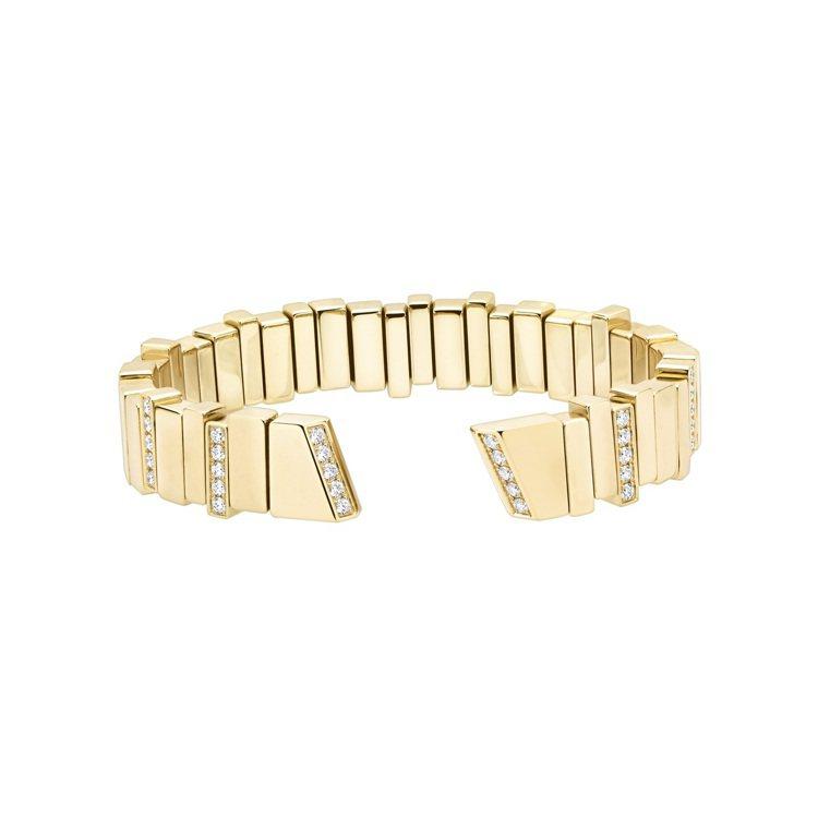 GEM DIOR黃金鑽石手鐲,91萬0,000元。圖/DIOR提供