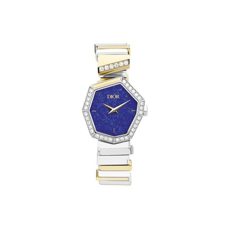 GEM DIOR黃金精鋼青金石表盤腕表,56萬元。圖/DIOR提供