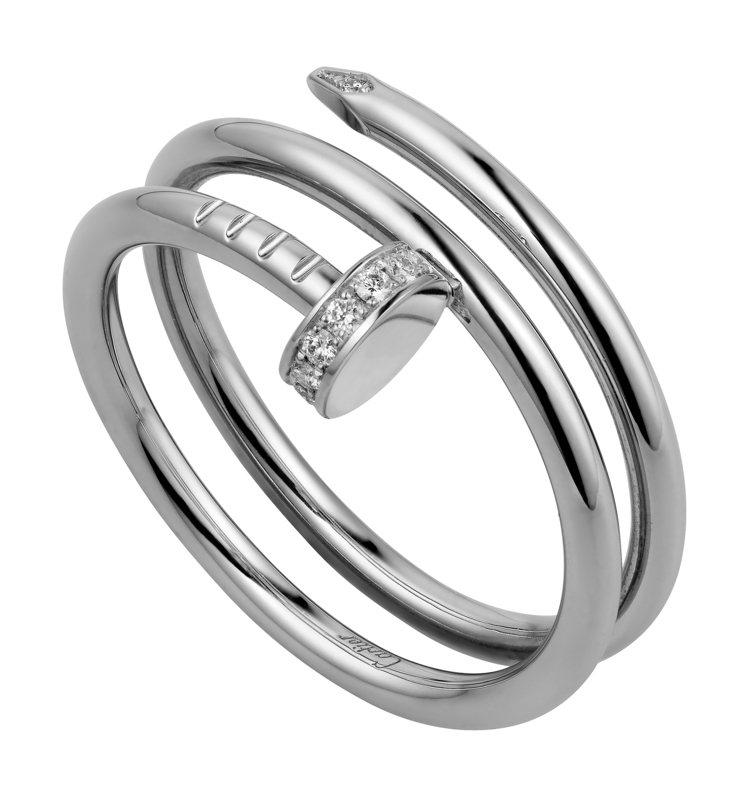 JUSTE UN CLOU雙圈戒指,13萬1,000元。圖/卡地亞提供