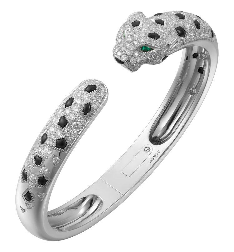 Panthère de Cartier美洲豹手環,1,68萬元。圖/卡地亞提供