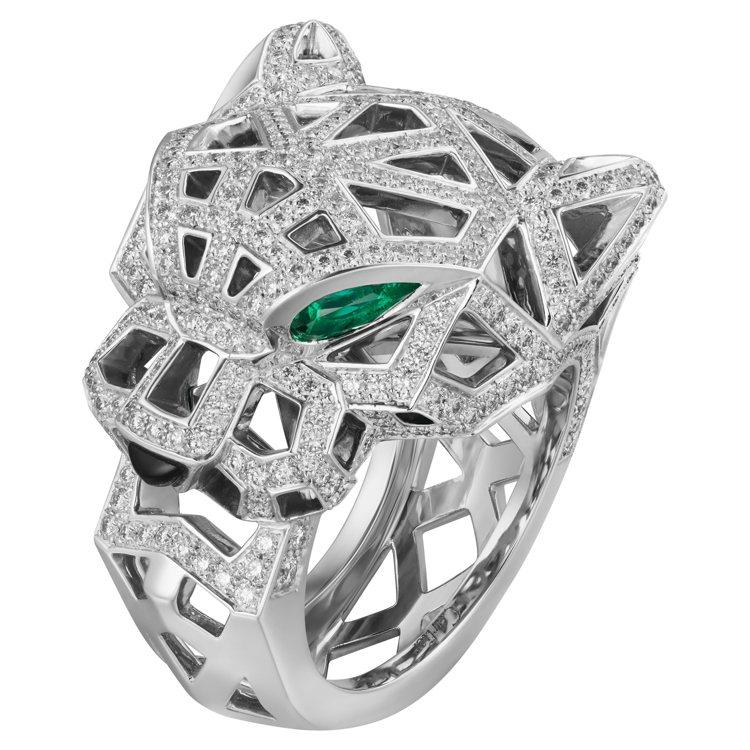 Panthère de Cartier美洲豹鏤空戒指,149萬元。圖/卡地亞提供